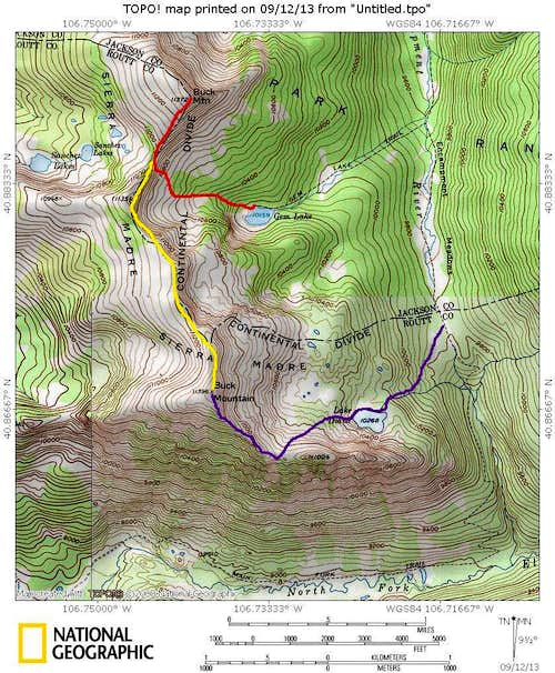 Buck Mountain Routes
