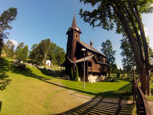 Tatranska Javorina wooden church