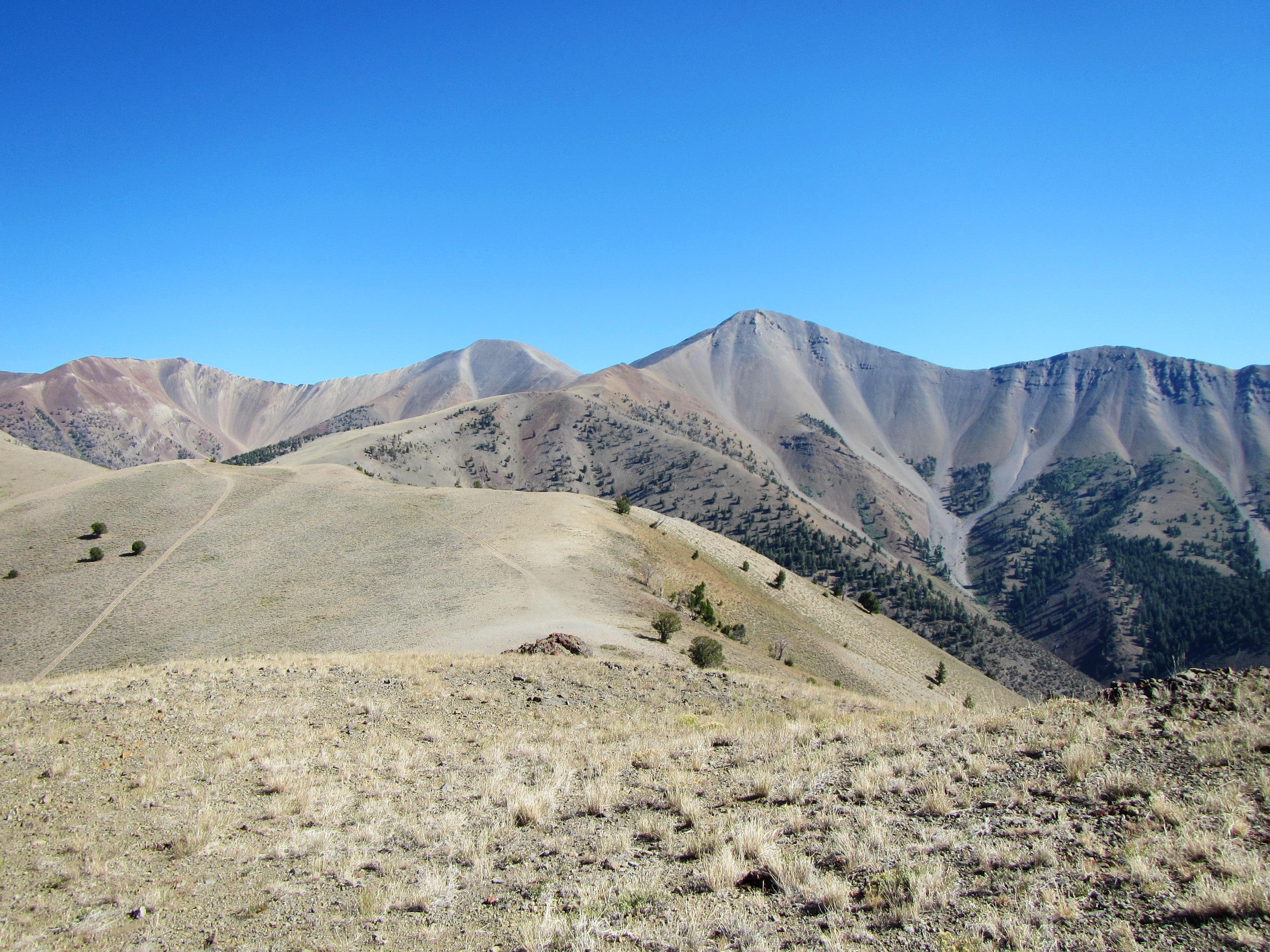 Shelly Mountain: Antelope Pass route