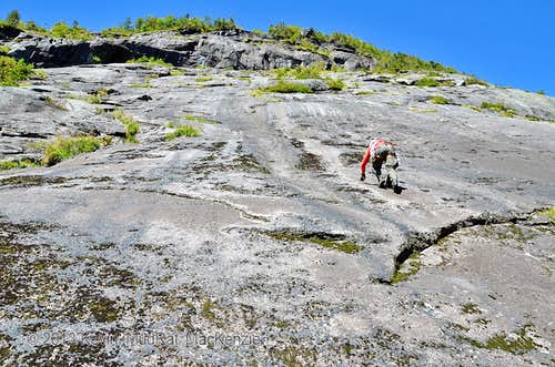 Beginning of Marcy East Face Routes