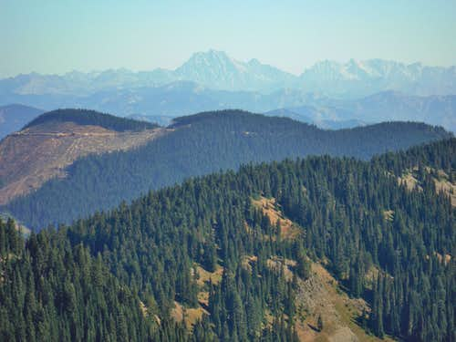 Mount Stuart from the summit of Blowout Mountain