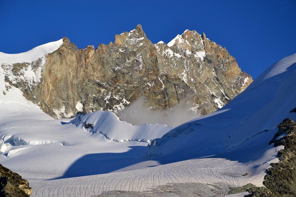 Weisshorn and Turtmann glacier