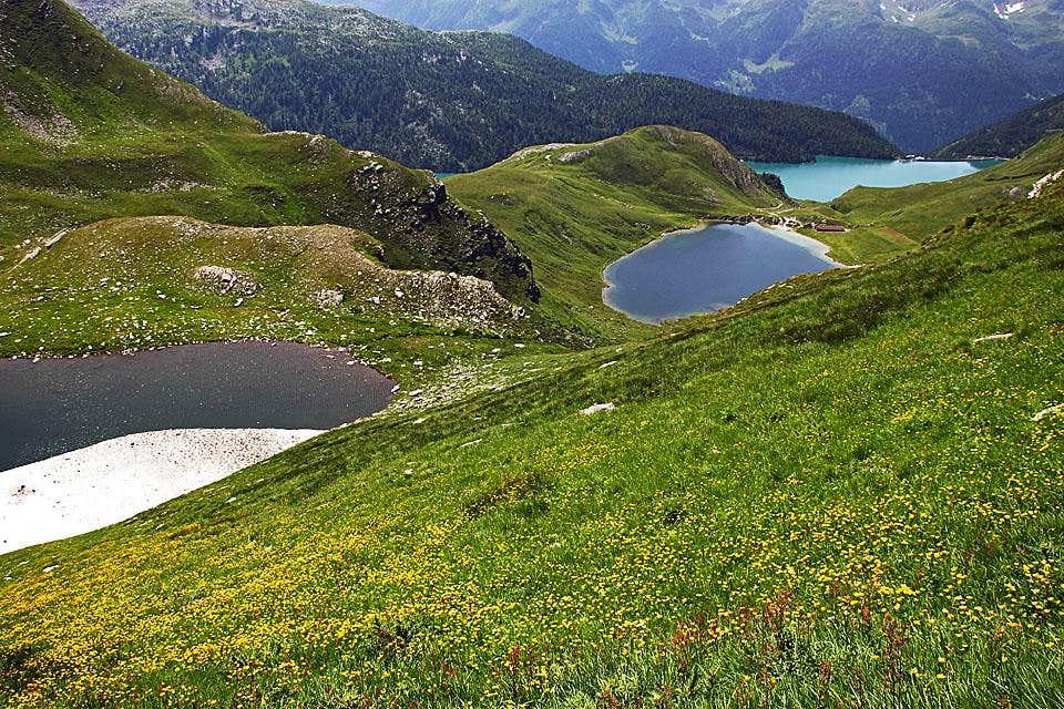 Val Piora lakes from below Taneda