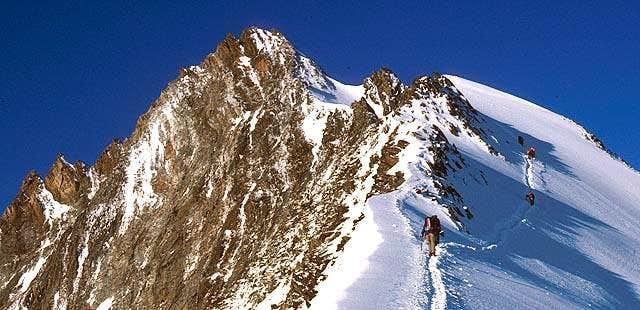 On the North East ridge.