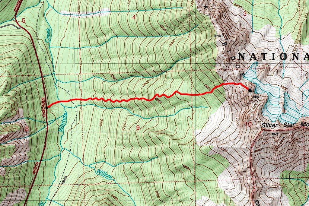 Burgundy Spire approach map