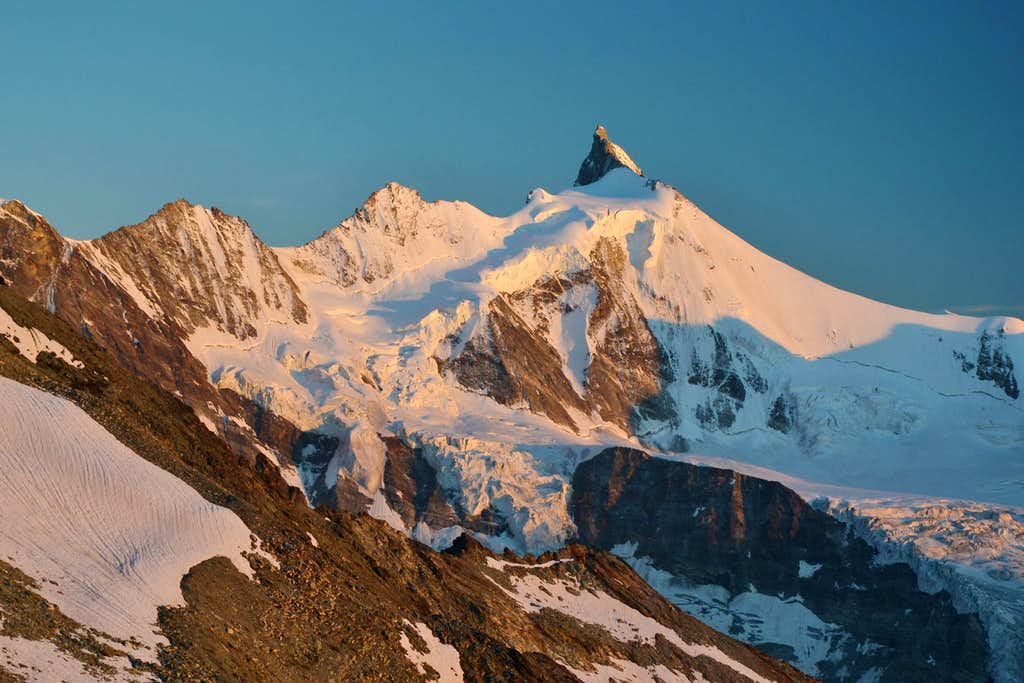 Zinalrothorn in sunset glow