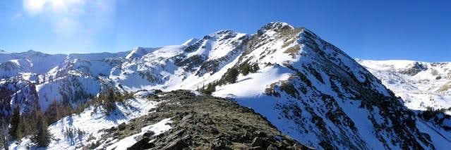 The northeast ridge of...