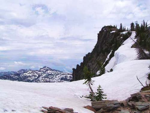 The summit of Scotchman peak...