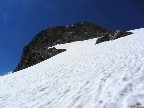 Hintere Jamspitze from the upper Jamtal Ferner