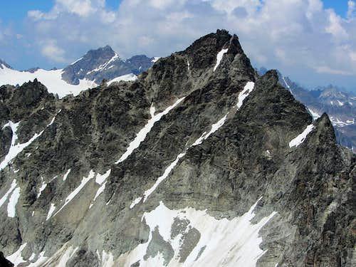 Dreiländerspitze (3197m) from the top of the Hintere Jamspitze (3156m)
