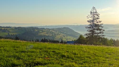 Sunrise from Gubałówka hill