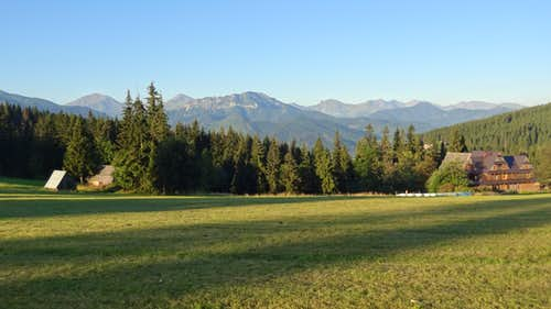 Gubałówka hill, looking to the Western Polish Tatras