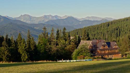 Gubałówka hill, looking to the Western Polish Tatras