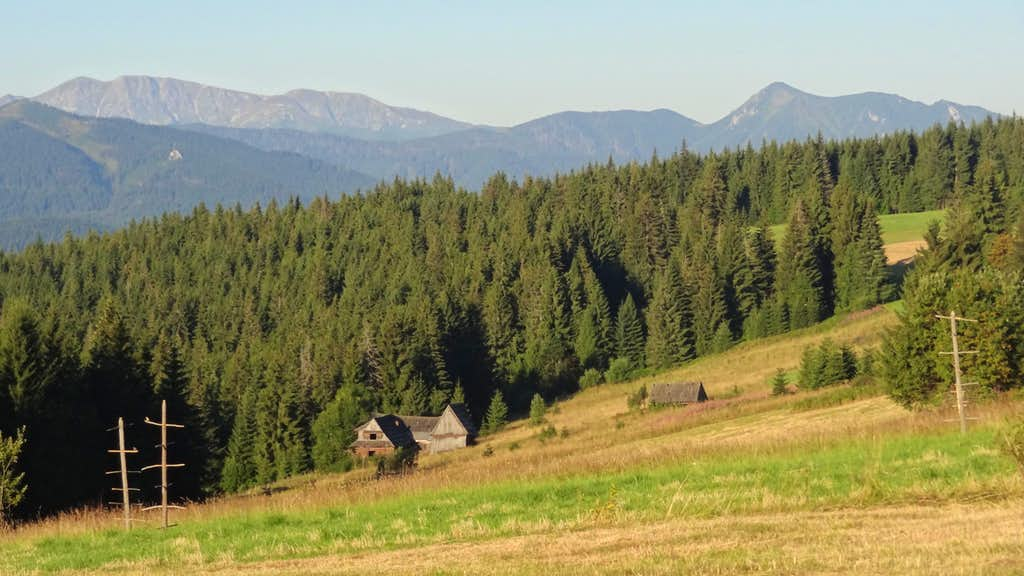 Gubałówka hill, looking to the Western Slovak Tatras
