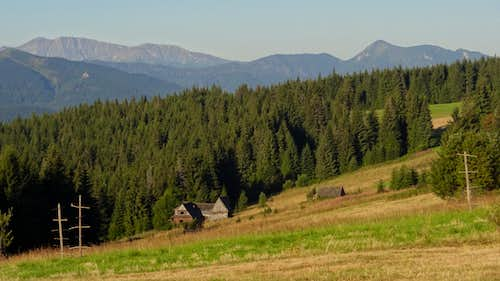 Gubałówka hill, looking to the Western Slovak Tatras