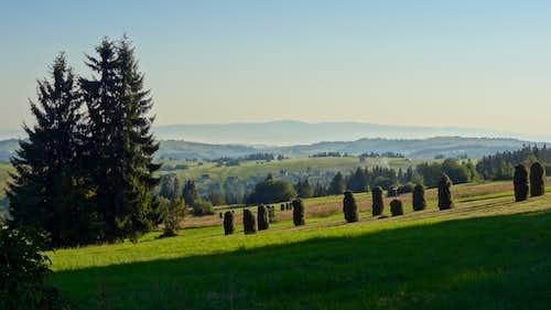 Gubałówka hill, looking to the NE