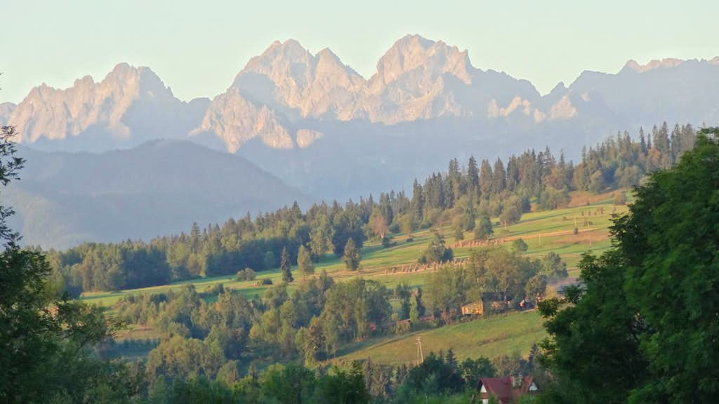 Sunrise on the High Tatras sharpest peaks