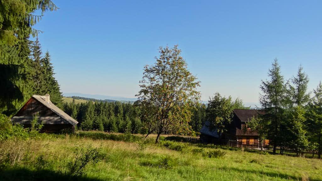 Old huts on Magura Orawska