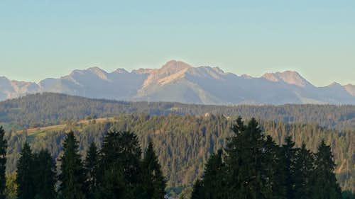 Sunrise on the High Tatras sharpest peaks