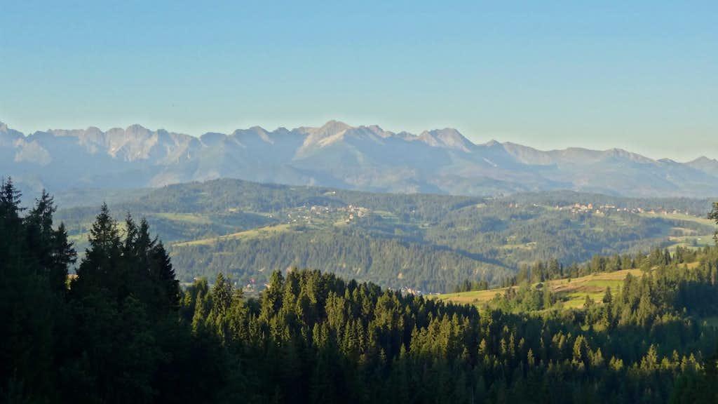 Panoramic sunrise on the High Tatras