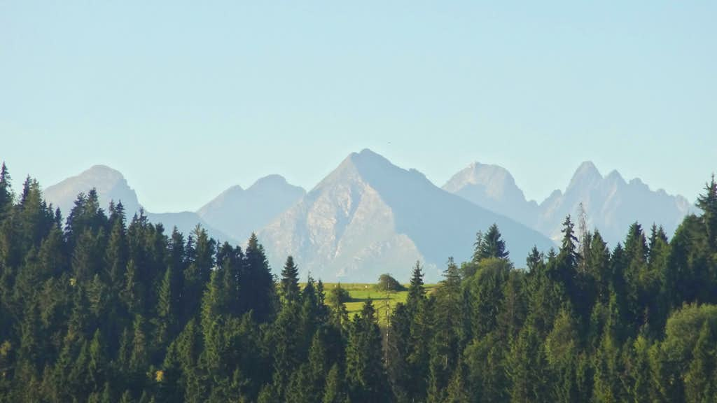 Tatry Belianske jutting out