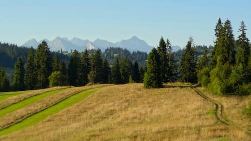 High Tatras jutting out