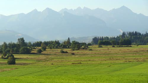 High Tatras in the distance
