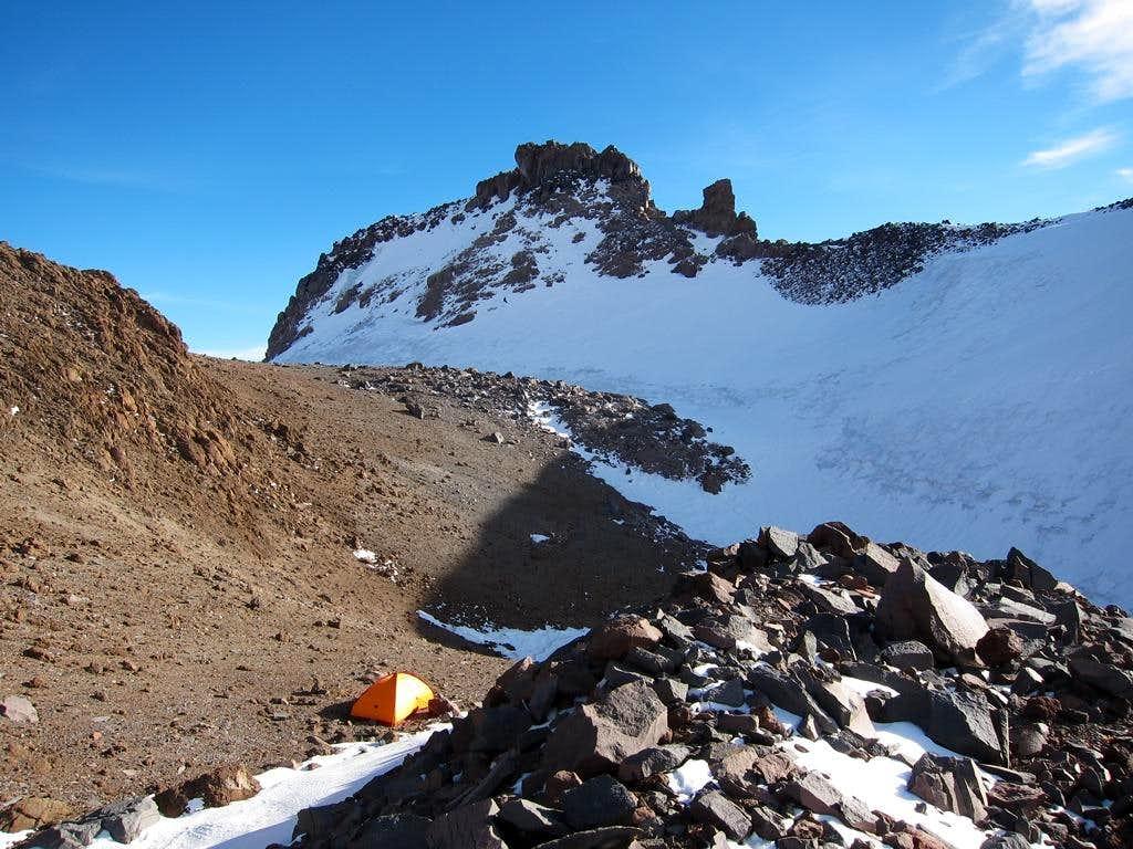 Camp at Mud Creek Glacier