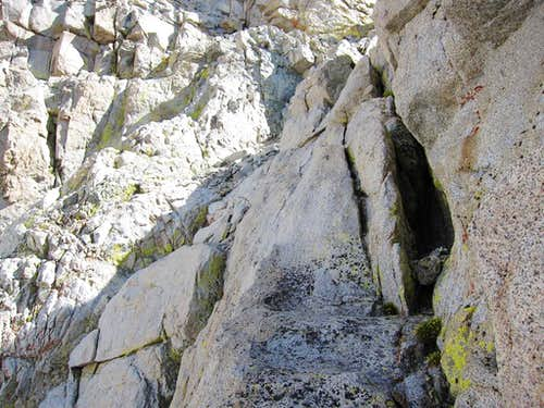Crux on Milestone Northeast Chute