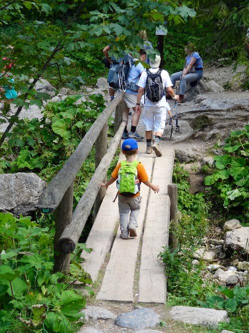 Hiking down Przełęcz w Grzybowcu