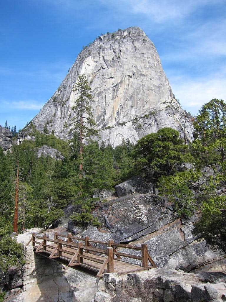 Footbridge and Liberty Cap