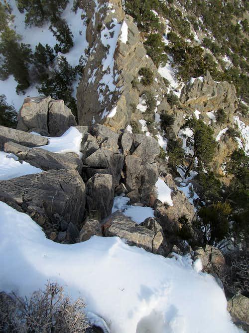 Descending Clark's East Ridge