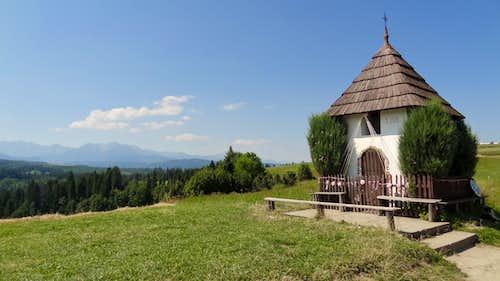 Chapel on Przełęcz nad Łapszanką