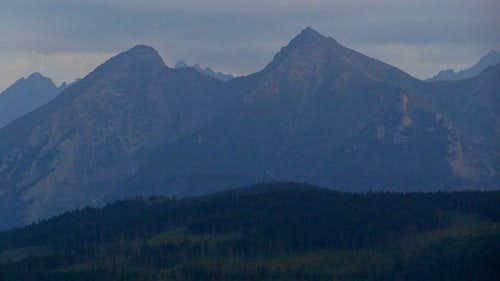 Evening panorama on the White Tatras from Przełęcz nad Łapszanką