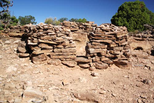 The ruin on mesa top
