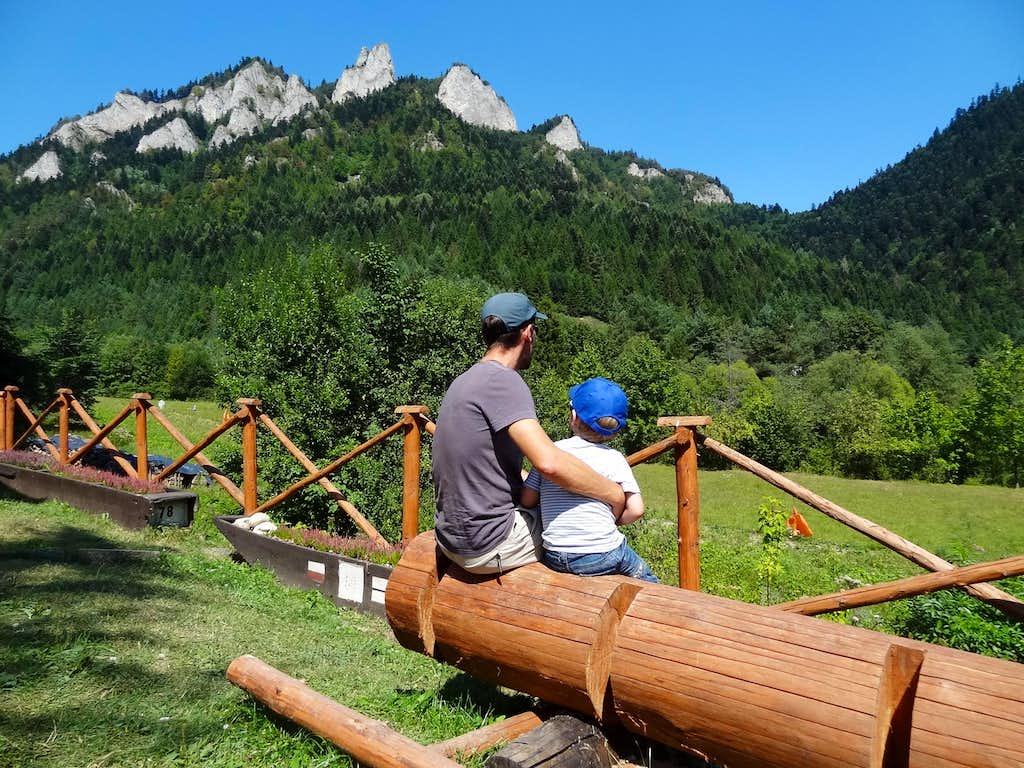 At the Trzy Korony mountain hut