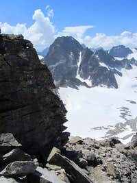 Piz Buin from the east, seen from high on the Dreiländerspitze