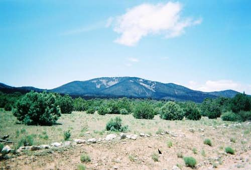 A view of Gallinas Peak.