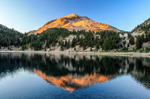 Sunset on Lassen Peak