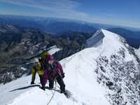 Weissmies summit ridge