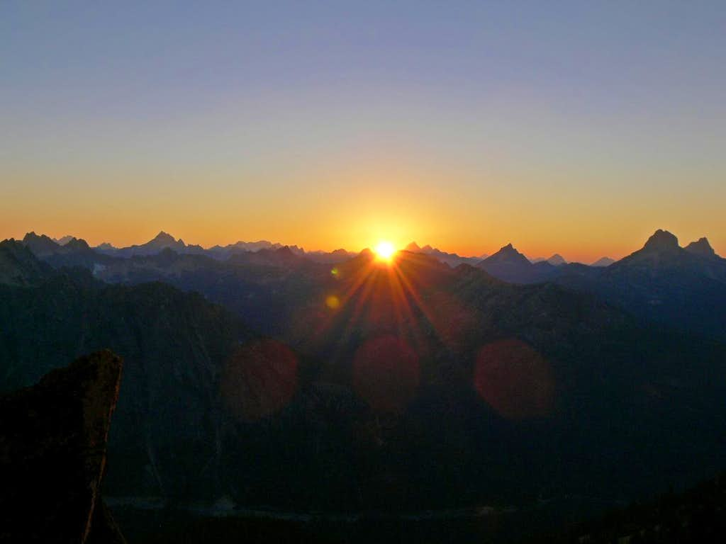 Sunset over the North Cascades