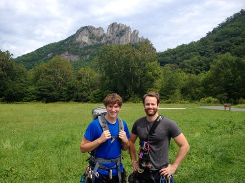 Judge and John at Seneca Rocks WV