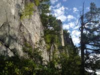 The view from thd entrance of No Dally Alley - Seneca Rocks WV