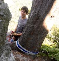 John setting up the anchor - North Summit Seneca Rocks WV
