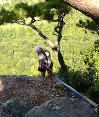 Rappel below the north summit - Seneca Rocks WV