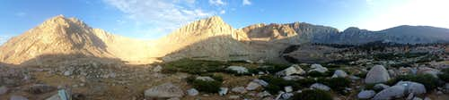 Sunrise panorama over Old Army Pass