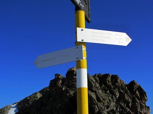 Signpost on the Seelücke