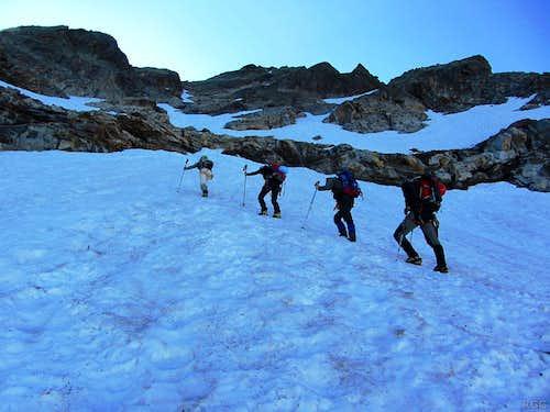 Crossing the small Seetal glacier
