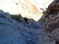 Tom at bottom of East Face at...