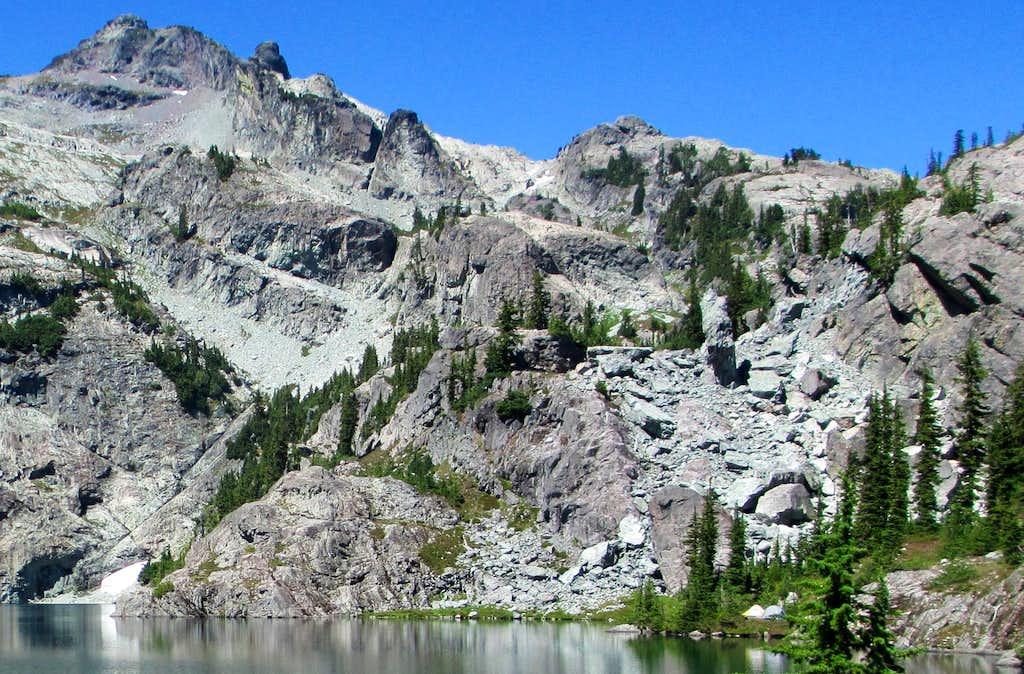 Boulderfield to Climb Above Glacier Lake